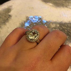 Jewelry - 3.4 Carats Aquamarine Diamond White Gold Ring